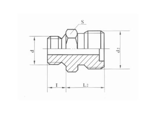 焊接式端直通管接头体JB984-77