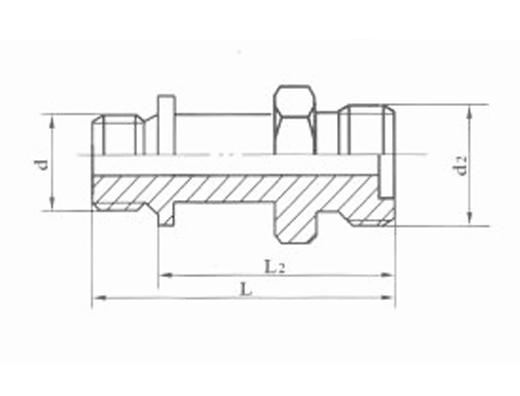 焊接式端直通长管接头JB1884-77