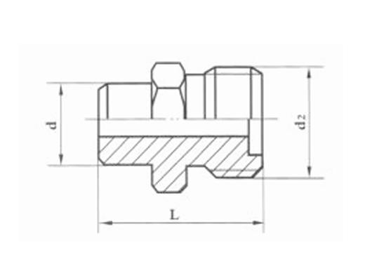 焊接式端直通管接头体 JB988-77