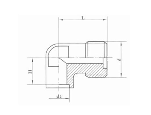 焊接式端直通管接头体 JB989-77
