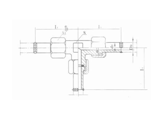焊接式三通管接头 JB972-77
