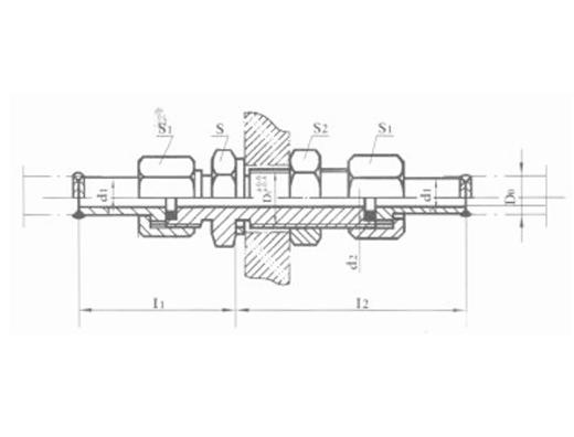 焊接式隔壁直通管接头 JB974-77