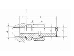 焊接式端直通管接头JB966-77