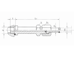 焊接式端直通长管接头JB1883-77