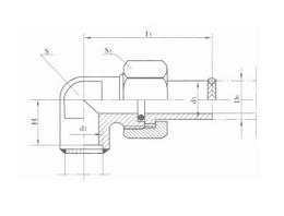 焊接式端直通管接头 JB971-77