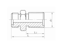 焊接式隔壁直通管接头体 JB992-77