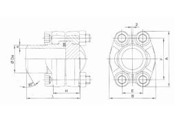 DSFG法兰组件尺寸
